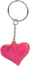 Key Ring-Glitter Heart