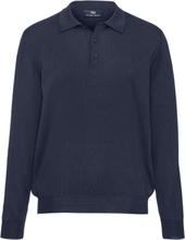 Tröja krage i 100% ren ny ull från Peter Hahn blå