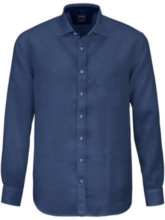 Skjorta i 100% linne från Olymp blå