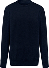 Rundhalsad tröja i 100% kashmir i Premium-kvalitet från Peter Hahn Cashmere blå