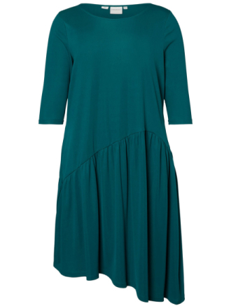 JUNAROSE Asymmetric Flounce Dress Women Green