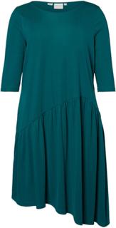 JUNAROSE Asymmetric Flounce Dress Kvinna Grön