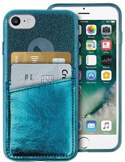 Puro Shine Pocket iPhone 6/6S/7/8 Cover - Mørkegrøn