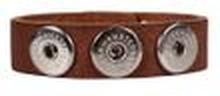 Noosa Armband classic skinny mid brown ohne Chunks