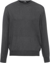 Rundhalsad tröja i 100% ren ny ull, modell Clement från Peter Hahn grå