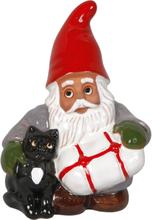 Minitomte med katt/paket 12 cm