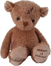 """Krya på dig nalle """"Nobody's perfect"""", 25 cm, Bukowski"""