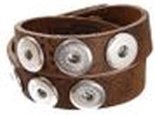 Noosa Armband double skinny mid brown ohne Chunks