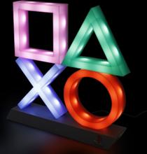 Playstation - Playstation Icons Lamp -Bordlampe - flerfarget