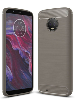Motorola Moto G6 børstet karbon fiber tekstur - Grå
