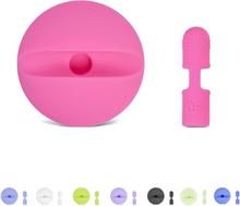 Apple pencil lade stasjon med beskyttelses hette i silikon - Rosa
