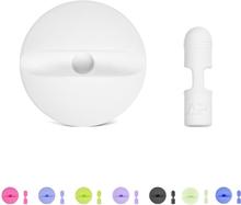 Apple pencil lade stasjon med beskyttelses hette i silikon - Hvit