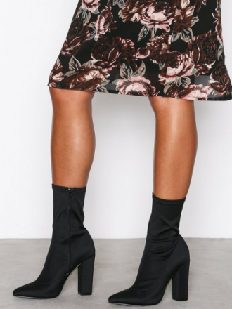 Heel - Svart NLY Shoes Pointy Stretchy Boot