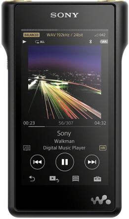 Sony NW-WM1A med høy oppløsning lyd gå (128 GB minne, S Master HX m...