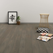 vidaXL Klickgolv 3,51 m² 4 mm PVC grå och brun