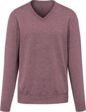V-ringad tröja i 100% kashmir, modell Valentin från Peter Hahn Cashmere lila