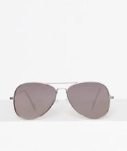 Topman Silver Hunter Aviator Sunglasses Solglasögon Metallic