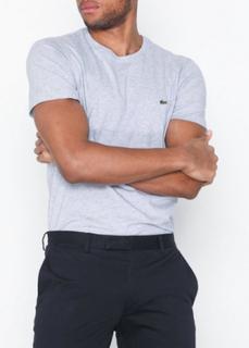 Lacoste T-Shirt Ras Du Cou Manc T-skjorter og singleter Sølv