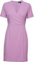 Whisper Ruth Short Sleeve Wrap Dress Kort Kjole Lilla French Connection