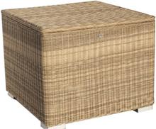 Kissenbox II 95 x 95 x 80cm - Naturel - rundes Geflecht