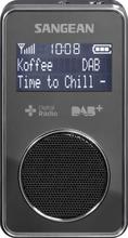 Lommeradio Sangean DPR-35 DAB+, FM genopladelig Sort