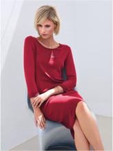 Stickad klänning 3/4-lång ärm från Peter Hahn röd