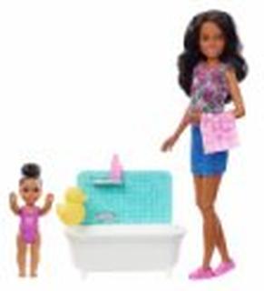 Barbie Dukker - Skipper Babysitter Med Badekar Og Baby - 2