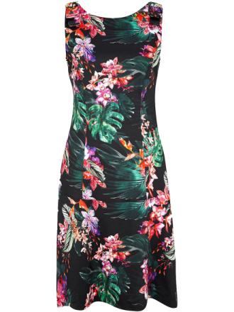Ärmlös klänning från comma, mångfärgad