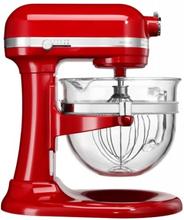 KitchenAid Röd 6L glasskål, Artisan Mixer