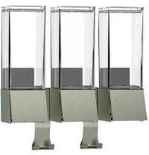 Hefe Linea III tvåldispenser, borstat stål