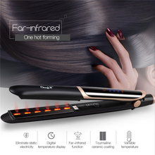 2 in 1 Tourmaline Ceramic Far-Infrared Hair Straightener Curler Curling Straightening Wide Plate Flat Iron Styling Tools 33
