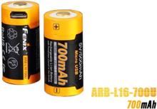 Fenix ARB-L16-700U USB Rechargeable 700mAh Rechargeable Li-ion 16340 RCR123A Battery