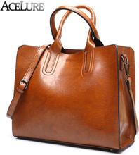 ACELURE Women Shoulder Bag Simple Handbags Famous Brands Big Trunk Tote Vintage Ladies crossbody bags for women handbags