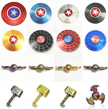 Captain America Cupid Thor's hammer Fidget Spinner EDC Hand Spinners ADHD Kids Christmas Gifts Metal Finger Toys Spinners