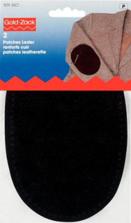 Armbågslappar i läder (fastsys)
