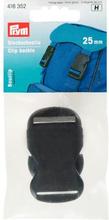 Ryggsäcksspänne av plast svart