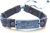 Armband läder viking sverige sweden hampa