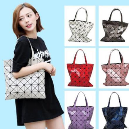 Women Luxury Brand Handbag Female Folded Ladies Geometric Plaid Bag Fashion Casual Tote Women Handbag Mochila Shoulder Bag Bao