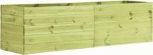 vidaXL Odlingslåda 200x50x54 cm impregnerad furu