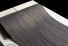 1Pieces L:2.5Meters Wide:600mm Thickness:0.25mm Technology Wave Pattern Macassar Ebony Wood Veneer(back Nonwoven fabric)