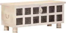 vidaXL Förvaringslåda vit 110x40x45 cm massivt akaciaträ