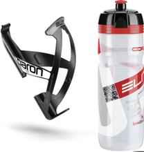 Elite Kit Supercorsa/Paron Bottle & Holder 0.75 litres clear/red/black/white 2019 Drikkesystem