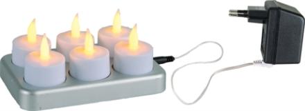 LED Värmeljus 6-pack Chargeme