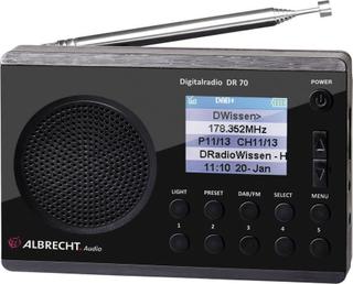 DAB+ Bärbar radio Albrecht DR 70 DAB+, FM Svart