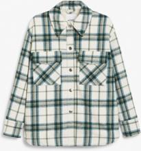 Wool blend shacket - Green