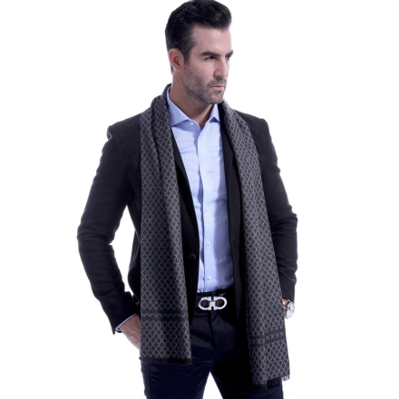 Classic Business Casual Striped Plaid Men Scarf