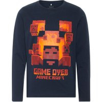 NAME IT Kids Langærmet Minecraft T-shirt Mænd Blå - NAME IT