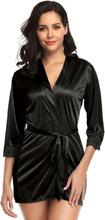 Silky Robe With Waist Belt