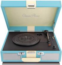 TT-33 - Retro Suitcase Turntable - Blue