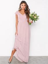 NLY Eve Cap Sleeve Maxi Gown Maxiklänningar Dark Rose